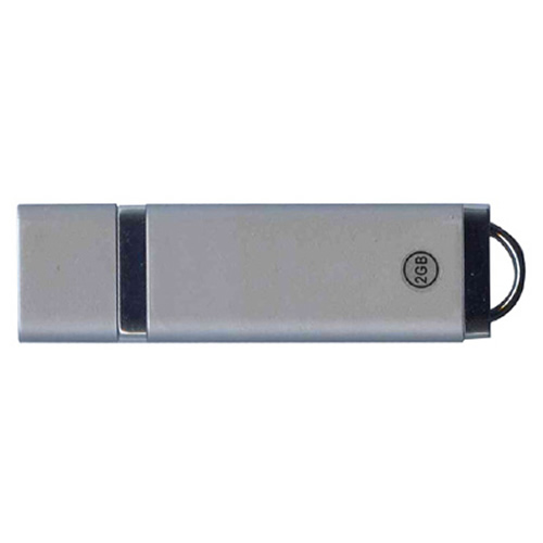 Gigaram UDF182-2GB-BI 2GB USB 2.0 FlashDrive 23/5 MBs 153x Rectangular with cap Silver Bulk in White