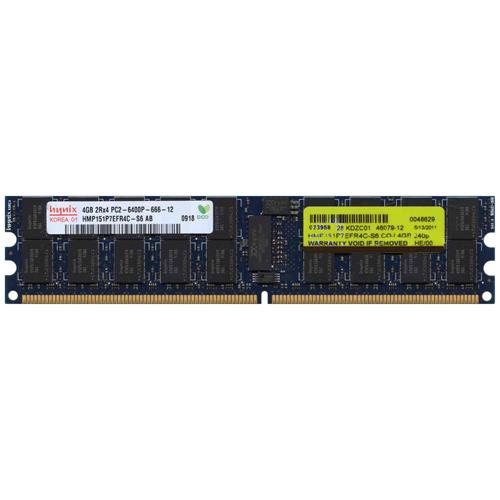 4GB 240p PC2-6400 CL6 36c 256x4 DDR2-800 2Rx4 1.8V ECC RDIMM NIB