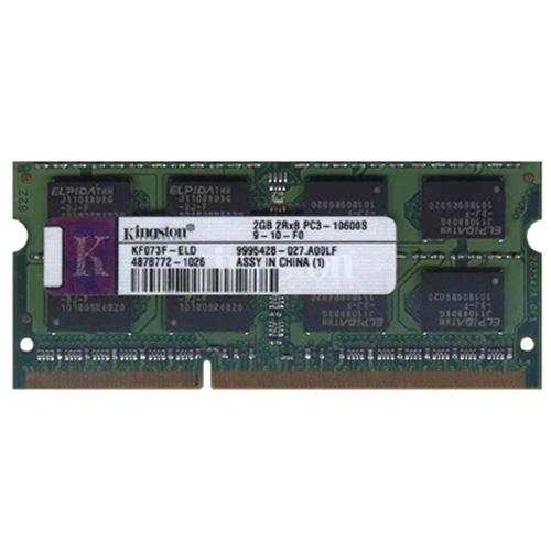 2GB 204p PC3-10600 CL9 16c 128x8 DDR3-1333 2Rx8 1.5V SOCNFDIMM-RFB