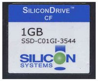 Silicon SSD-C01GI-3544 1GB 50p CF CompactFlash Card 48x/41x Silicon Systems Bulk