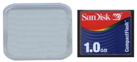 SanDisk SDCFB-1024 CBE 1GB 50p CF CompactFlash Card Sandisk Rainbow Label Clam w/ sn