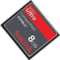 SanDisk SDCFH-008G DFN 8GB 50p CF CompactFlash Card Ultra Clam