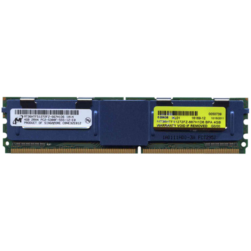 4GB 240p PC2-5300 CL5 36c 256x4 DDR2-667 2Rx4 1.8V ECC FBDIMM  RFB W/HP label