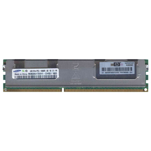 Samsung M393B5170EH1-CH9Q1 4GB 240p PC3-10600 CL9 36c 256x4 DDR3-1333 2Rx4 1.5V ECC RDIMM W/HP label