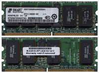 Smart SG72568RG8RRDGSA1 2GB 244p PC2-3200 CL3 18c 128x8 Registered ECC DDR2-400 MiniDIMM