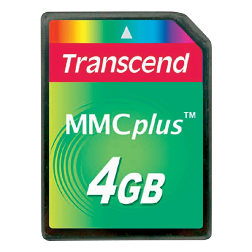 Transcend TS4GMMC4 BSD 4GB 13p MMC Multimedia Plus Card Bulk RFB