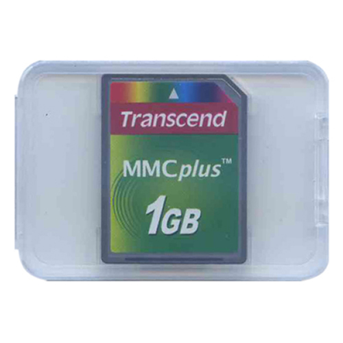 Transcend TS1GMMC4 1GB 13p MMC MultiMedia Plus Card 200x Clam