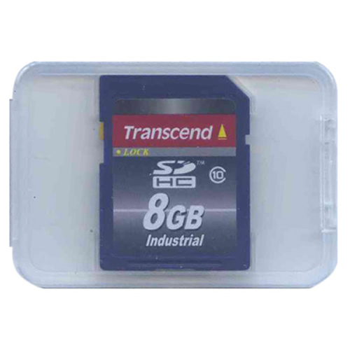 Transcend TS8GSDHC10I 8GB 9p SDHC Secure Digital Card Industrial Grade Class 10 Clam
