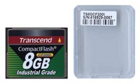 Transcend TS8GCF200I DFS 8GB 50p CF 200x Industrial Grade Transcend Compact Flash Card Clam