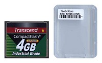 Transcend TS4GCF200I 4GB 50p CF 200x Industrial Grade Compact Flash Card Clam