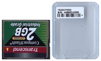 Transcend TS2GCF200I DFQ 2GB 50p CF 200x Industrial Grade Transcend Compact Flash Card Clam