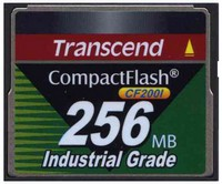 Transcend TS256MCF200I 256MB 50p CF 200x Industrial Grade Compact Flash Card Clam