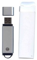 Gigaram UDF182-4GB-BI-READY BTQ 4GB USB 2.0 FlashDrive 33.8/13.5 MB/s Rectangular with cap Silver Bu