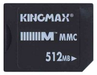 Kingmax MMC-512MB-KINGMAX BPY 512MB 7p MMC MultiMedia Card Bulk