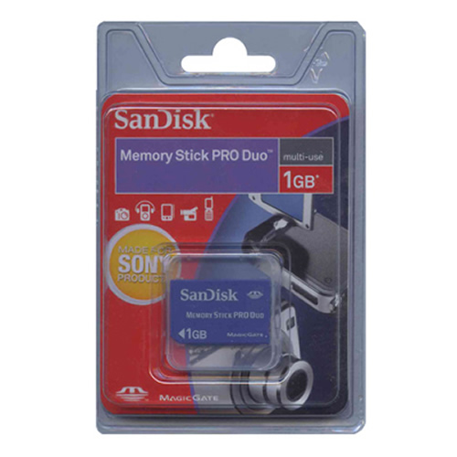 SanDisk SDMSPD-1024-P36 1GB 10p Memory Stick Pro Duo w/o Adapter Retail