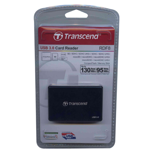 Transcend TS-RDF8K 0MB USB 3.0 (14-in-1) to Flash Memory Card Reader Retail