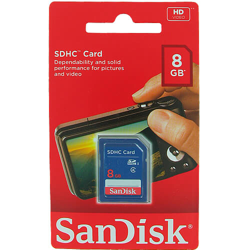 SanDisk SDSDB-008G-B35 8GB 9p SDHC Class 4 Secure Digital Card Retail