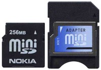 Nokia MINISD256 BRO 256MB 11p MiniSD Mini Secure Digital Card 71/31x with Adapter Bulk