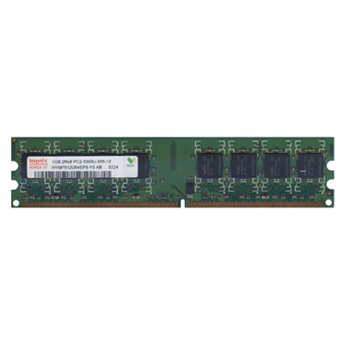 1GB 240p PC2-5300 CL5 16c 64x8 DDR2-667 2Rx8 1.8V UDIMM RFB