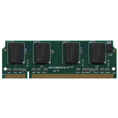 Qimonda/3rd GR256S8D1616-21L-QP1N ADD 256MB 200p PC2100 CL2.5 8c 16x16 DDR SODIMM PCB-MT512S8D3216-L