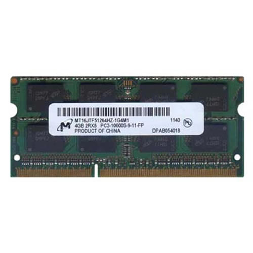 Micron MT16JTF51264HZ-1G4M1 4GB 204p PC3-10600 CL9 16c 256x8 DDR3-1333 2Rx8 1.5V SODIMM  RFB