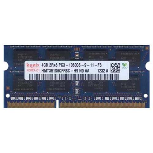 4GB 204p PC3-10600 CL9 16c 256x8 DDR3-1333 2Rx8 1.5V SODIMM RFB