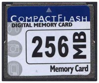 Gigaram CF-256MB-GA CAW 256MB 50p CF CompactFlash Card 16/10 MBs 110x with Label Bulk