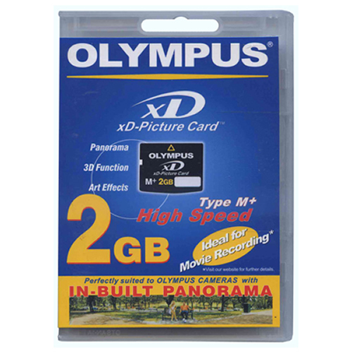 Olympus M-XD2GMP CHO 2GB 18p xD Picture Card Type M Plus Retail