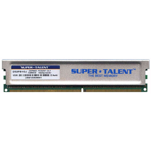 STT D32PB1GJ ACZ 1GB 184p PC3200 CL3 16c 64x8 DDR400 2Rx8 2.5V UDIMM w/ heat sink