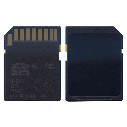 4GB 9p SDHC Class 4 Blank Secure Digital NIT400