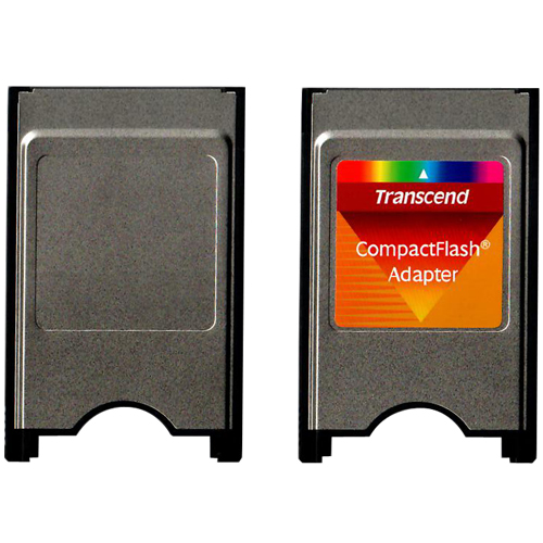 Transcend TS0MCF2PC 0MB PCMCIA (Type II) to CompactFlash (Type I) Adapter Bulk