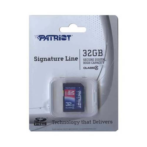 Patriot PSF32GSDHC4 32GB 9p SDHC Class 4 Secure Digital High Capacity Class 4 w/ clam Retail