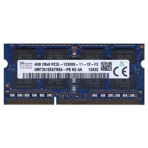 Hynix HMT351S6EFR8A-PBN0 4GB 204p PC3-12800 CL11 16c 256x8 DDR3-1600 2Rx8 1.35V SODIMM W/Mix label