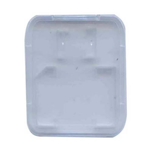 0MB Case SD+MSD Hard Plastic Clam 52x42x7mm Bulk