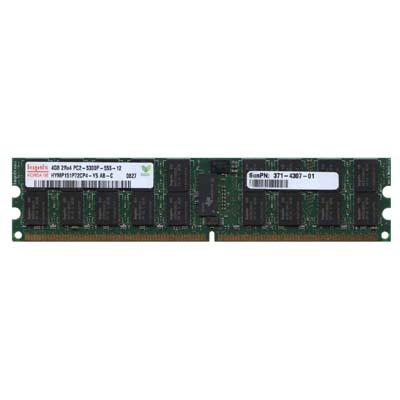 4GB 240p PC2-5300 CL5 36c 256x4 DDR2-667 2Rx4 1.8V ECC RDIMM Sun X8098A
