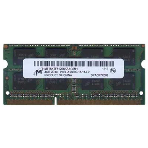 Micron MT16KTF51264HZ-1G6M1 CPA 4GB 204p PC3-12800 CL11 16c 256x8 DDR3-1600 2Rx8 1.35V SODIMM NLM