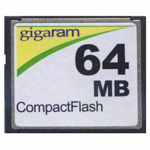 Gigaram CF-64MB-LI BPR 64MB 50p CF r9MB/s w2MB/s Compact Flash Card with GR Label Bulk
