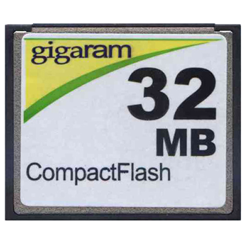 Gigaram CF-32MB-LI BPK 32MB 50p CF r11MB/s w2MB/s with GR Label Compact Flash Card Bulk