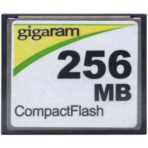 Gigaram CF-256MB-LI 256MB 50p CF r17MBs w6MBs with GR Label CompactFlash Card Bulk