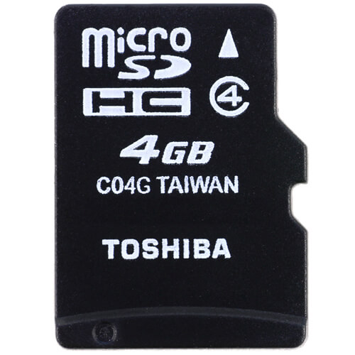 Toshiba SD-C04G2T2 CRF 4GB 8p MSDHC r15MB/s w5MB/s Class 4 Micro Secure Digital High Capacity Card B