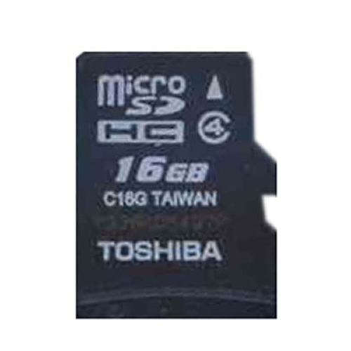 Toshiba SD-C16G2T2 CRG 16GB 8p MSDHC r15MB/s w5MB/s Class 4 Micro Secure Digital High Capacity Card