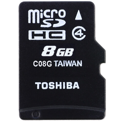 TOSHIBA SD-C08G2T2 8GB 8p MSDHC r15MB/s w5MB/s Class 4 Micro Secure Digital High Capacity Card Bulk