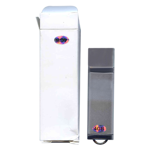Gigaram UDF182-4GB-LI 4GB USB 2.0 Pendrive r16MB/s w5MB/s Rectangular with cap Silver in White Box