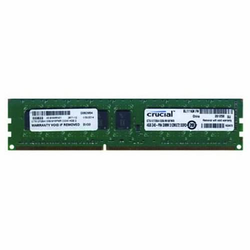 crucial CT51272BA1339.M18FMR COW 4GB 240p PC3-10600 CL9 18c 256x8 DDR3-1333 2Rx8 1.5V ECC UDIMM RFB