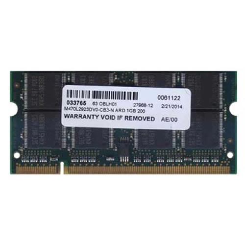 Samsung M470L2923DV0-CB3-N 1GB 200p PC2700 CL2.5 16c 64x8 DDR SODIMM Samsung No oem label