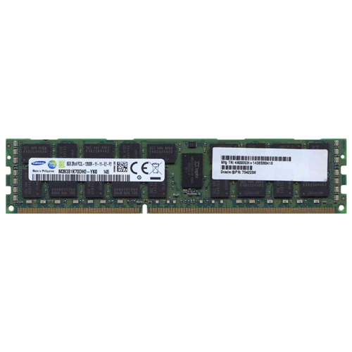 Samsung M393B1K70DH0-YK0 8GB 240p PC3-12800 CL11 36c 512x4 DDR3-1600 2Rx4 1.35V ECC RDIMM  W/Oracle