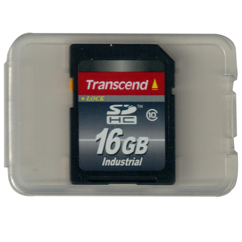 Transcend TS16GSDHC10I 16GB SD Secure Digital Card Industrial Grade Class 10 with Clam in Tray