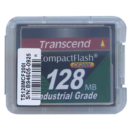Transcend TS128MCF200I 128MB 50p CF 200x Industrial Grade Transcend Compact Flash Card Clam