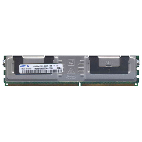 Samsung M395T2953EZ4-CE61 1GB 240p PC2-5300 CL5 18c 64x8 Fully Buffered ECC DDR2-667 2Rx8 FBDIMM  RF