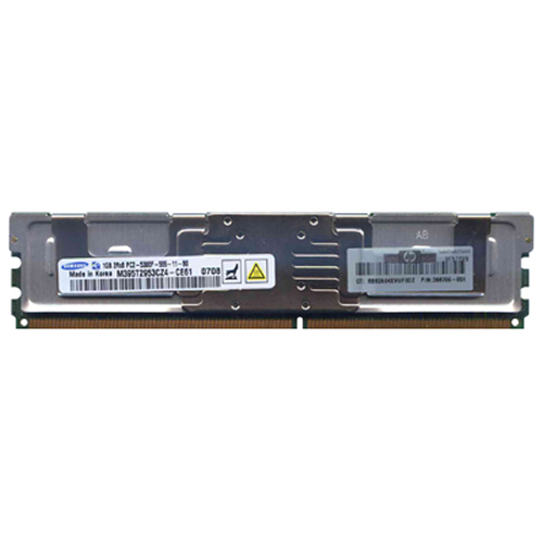 Samsung M395T2953CZ4-CE61 1GB 240p PC2-5300 CL5 18c 64x8 Fully Buffered ECC DDR2-667 2Rx8 FBDIMM  RF